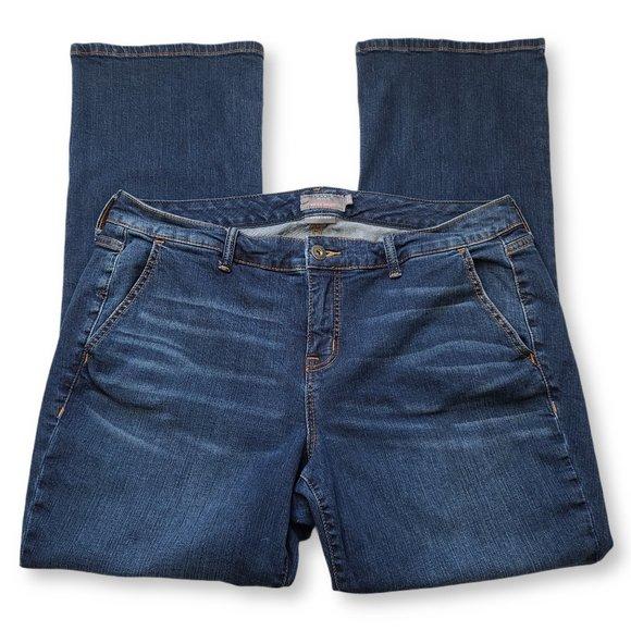 Torrid Blue Mid-Rise Slim Bootcut Jeans 18R